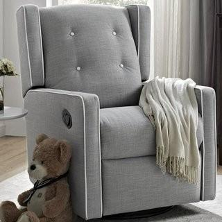 Viv + Rae Ann Swivel Glider - Grey - White Trim(VVRE4166_25692724)