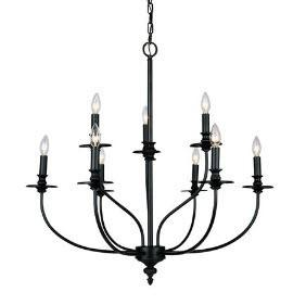 Elk Lighting - 289-OB  Elk 289-OB Hartford 9 Light Chandelier In Oil Rubbed Bronze