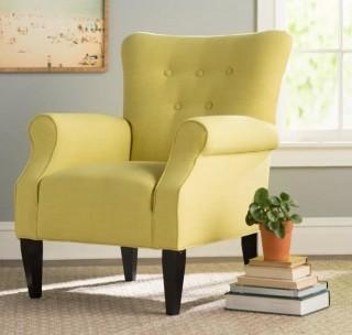 Alcott Hill Delia Button Back Arm Chair - Citrine Yellow (ALCT1923_15046945)