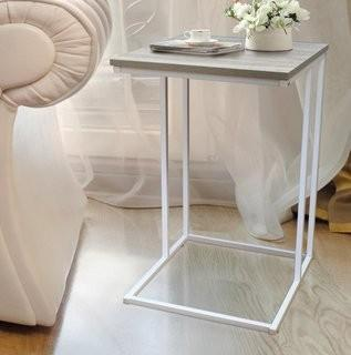 Wrought Studio Cadorette Modern End Table - White (VARK4654_27099369)
