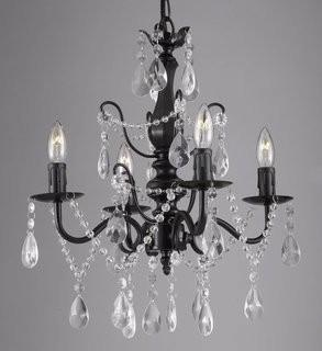 Lark Manor Padillo 4-Light Crystal Chandelier - Blk (LRKM1400_21228208)