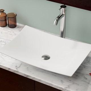 MR Direct Vitreous China Rectangular Vessel Bathroom Sink (MRDR1791_23601351)