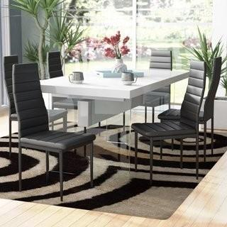 Orren Ellis Raze Upholstered Dining Chair - Set of 6 - Blk(OREL5189)