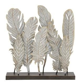 Cole & Grey Decorative Metal Feather (COGR7372)