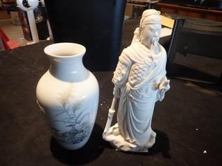 Lot of Kaiser Nautika Vase and Figurine.