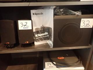 Klipsch Surround Sound System.