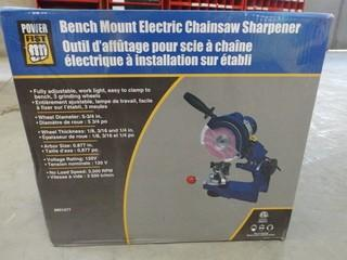 New Powerfist Bench Mount Electric Chain Saw Sharpener