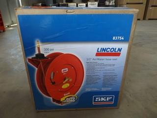 """New Lincoln 1/2"""" Air/Water Hose Reel"""