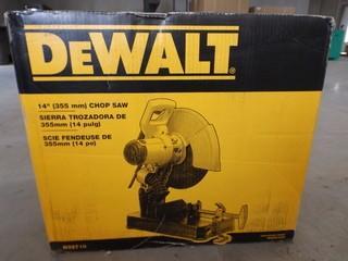 """New Dewalt 14"""" Chop Saw"""
