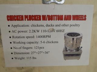 120V Chicken Plucker