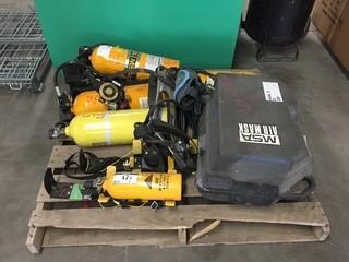 Lot of SBA Approved Cylinders, Regulators, Masks & Harness