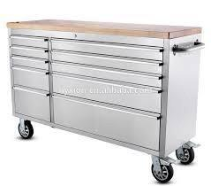 """New Stainless Steel 55"""" 10 Drawer Tool Chest"""