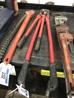 "Lot of Asst. 36"" and 24"" Bolt Cutters."