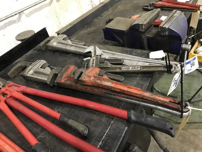 Lot of (1) 36  Aluminum Pipe Wrench 24  Ridgid Pipe Wrench. u2039u203a & ClubBid - Auction: Bonnyville AB - June 21 - Kopala Unreserved ...