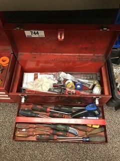 Lot of International Tool Box w/ Asst. Tools