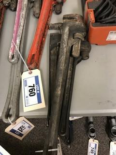 """Lot of (2) 18"""" Pipe Wrench and (1) 24"""" Pipe Wrench"""