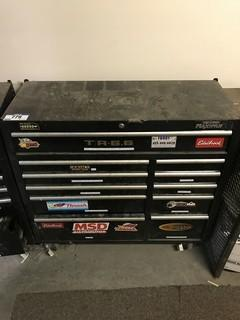 Mastercraft Maximum 11-Drawer Roll-Away Tool Chest w/ Asst., Contents Including Hammers, Eclectrical Supplies, Combination Wrenches etc.