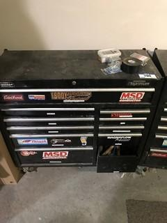 Mastercraft Maximum 11-Drawer Roll-Away Tool Chest w/ Asst., Contents Including Sockets, Screw Drivers, Ratches, Clamps, Blades, Tin Snips, Combination Wrenches etc.