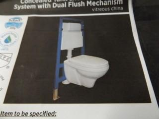 New 3 Pc Foremost Wall Mount Bowl & Toilet Seat