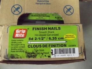 "Pallet of Grip-Rite 8D 2 1/2"" Finish Nails"