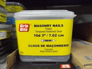 Pallet of Assorted Masonry, Finish, Common Roofing & Box Nails