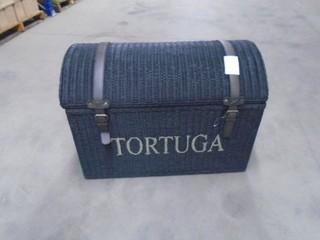 "New Tortuga Trunk 31"" x 18"" x 16"" w/ Leather Straps"