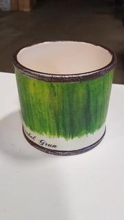 "5""x4"" Ceramic Bucket (S7322917) - Green / 4 pcs"