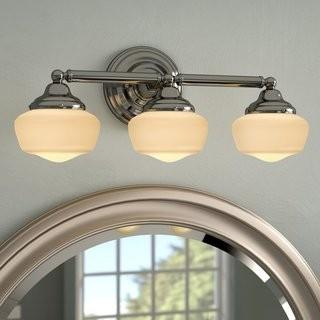 Laurel Foundry Modern Farmhouse Sainz 3-Light Vanity Light (LFMF1482_22412300_22412299) - Chrome