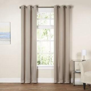"Wayfair Basics Wayfair Basics Solid Blackout Grommet Single Curtain Panel (WFBS1603_18673710_18673717) - 40"" x 84"" - /Grey"