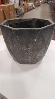 "7.75x7.75x6"" Cement Pot - Grey / 2 pcs  (P7351100)"