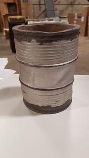 """5x6.75"""" Cement Rustic Vase - Silver (S7315874) - 4 pcs"""