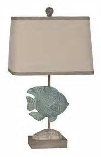 Lamps Per Se 22.5- inch Blue Fish Table Lamp (Set of 2) - LPS288