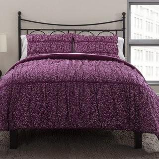 Republic Ruched Petite Flora Duvet Cover Set (RPUB1014_15336659) - Queen - Wild Berry