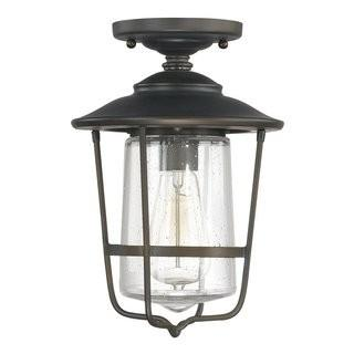 Birch Lane Remington 1-Light Outdoor Semi Flush Mount (BL4357) - Oiled Bronze