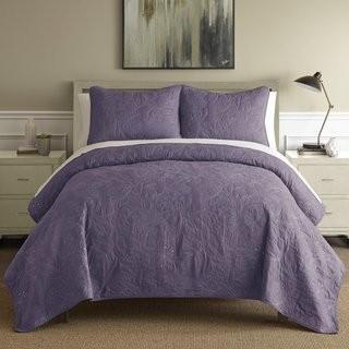 Andover Mills Tinley 3 Piece Reversible Quilt Set (ANDV2603_24133078_24133080) - Plum - King