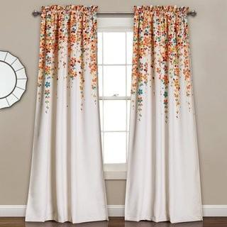 "Latitude Run Cumberland Nature/Floral Room Darkening Thermal Rod Pocket Curtain Panels (LATR6564_19765890) - 52"" x 84"" - 2 Packs of 2"