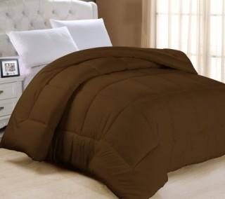Charlton Home Frankton Down Alternative Ultra Plush Comforter (CHLH3350_16395982_16395985) - Chocolate - Full