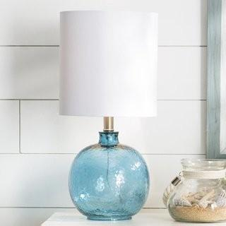 Beachcrest Home Barnwell 20 Table Lamp (BCHH7573_23542392) - Cerulean Blue