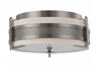 NUVO - 60-4436 - Flush Mount Pendant Bronze Light