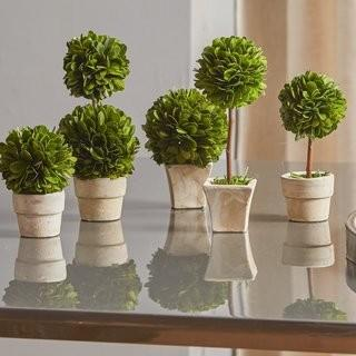 One Allium Way Gaudreau Mini 5 Piece Topiary Set (OAWY5031)