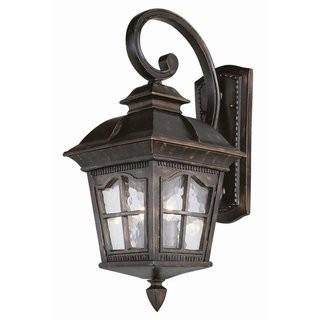 "Darby Home Co Freeborn Wall Lantern (DABH1077_29613206) - Antique Rubbed Bronze - 11"" x 25"""
