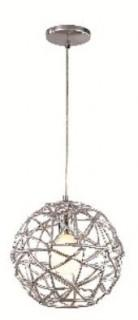 Trans Globe - PND-966 - Bel Air Lighting Space 1-Light Polished Chrome Pendant