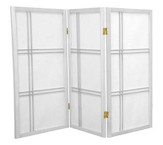 4' Tall Double Cross Shoji Screen - white - 3 panels - FL2011-WH-3-122H