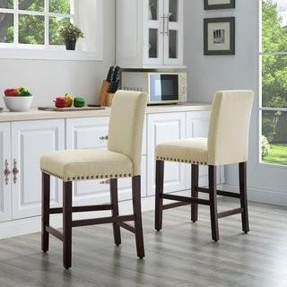 Charlton Home Santillo 38 Bar Stool (DQH2413_29537538) - Dolphin color - Set of 2