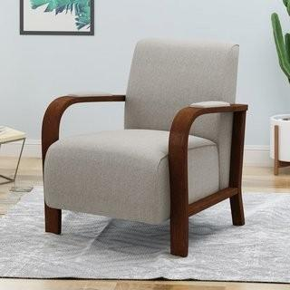 George Oliver Oxendine Traditional Fabric Club Chair (GOLV5061_29388169) - Beige