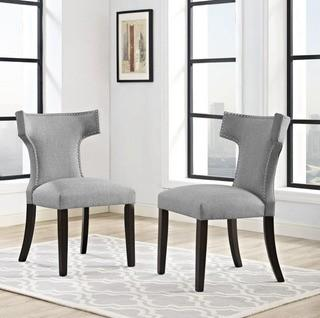 Modway Curve Upholstered Dining Chair (FOW4191_22557385) - Grey