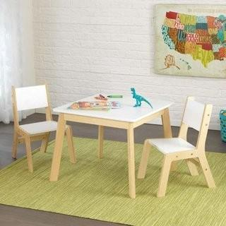 KidKraft Modern Kid's 3 Piece Square Table and Chair Set (KK2545_25448901)