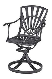 Home Styles, Model 5560-53, Largo Swivel Chair, Charcoal Finish w/ Cushion