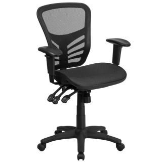 Symple Stuff Wyona Mid-Back Mesh Desk Chair SYPL5880) - Blk
