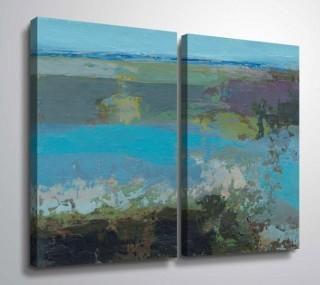 "Wrought Studio Gillham 'Killala Bay IV' Graphic Art Print Multi-Piece Image on Canvas BDEE1667) - 24"" x 36"" - Each - Set of 2"